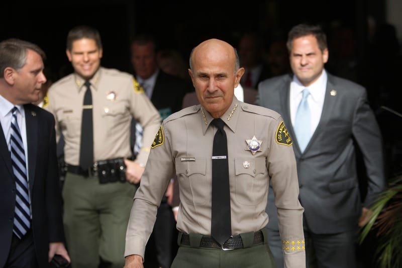 Los Angeles County Sheriff Lee Baca arrives to announce his unexpected retirement on Jan. 7, 2014, in Los Angeles. David McNew/Getty Images