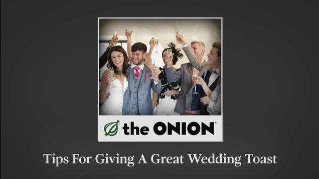 Tips For Giving A Great Wedding Toast