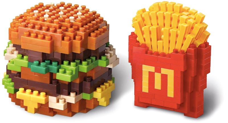 Illustration for article titled McDonald's New Nanoblock Sets Are the Safest Things You Can Eat There