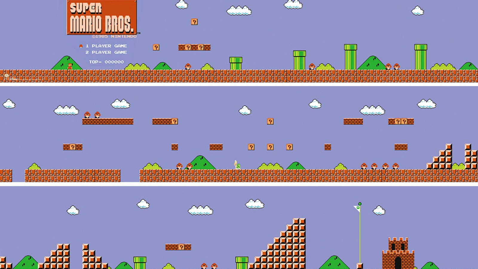 Power-up Your Walls With This Super Mario Bros  Level 1-1 Poster Set
