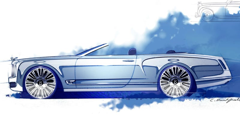 Illustration for article titled Bentley's Mulsanne Convertible Is The World's Most Elegant Drop-Top