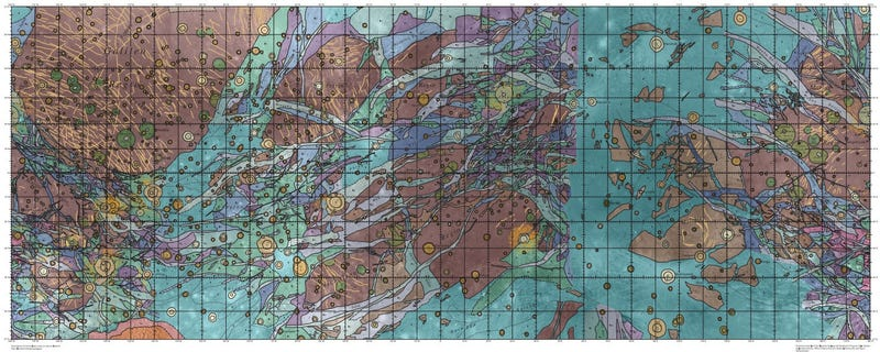 Illustration for article titled A Second Look at the First Geological Map of Ganymede