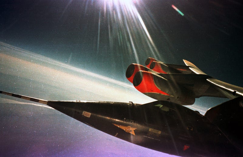 Illustration for article titled Outstanding photos of the X-15, the fastest manned rocket plane ever