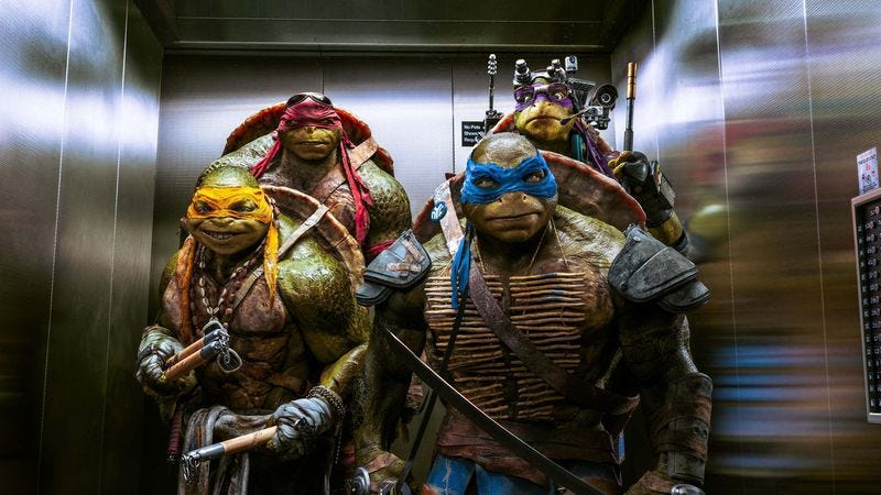 Illustration for article titled Michael Bay preserves the origins, but not the fun, of Teenage Mutant Ninja Turtles
