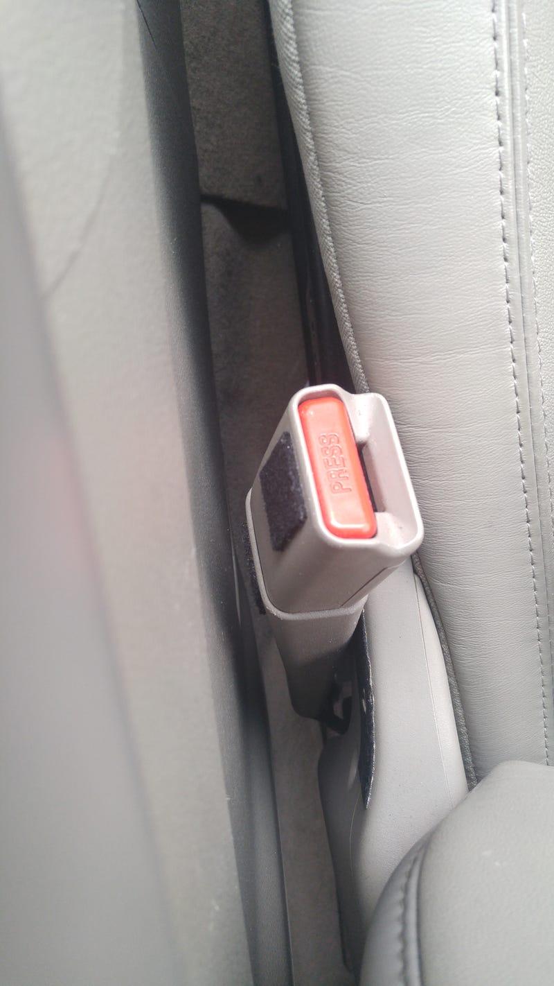 Illustration for article titled Factory Felt for Your Seat Belt!