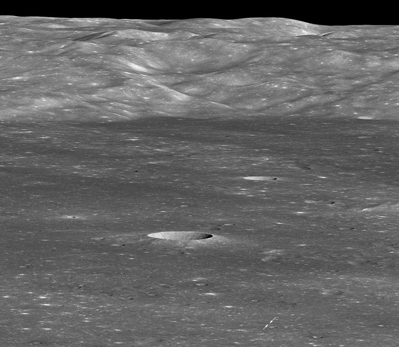 Freaky View From Lunar Orbit Shows Chinese Lander On The Moon's Far Side