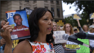 Jordan Davis' mother, Lucia McBath, in a scene from 3 1/2 MinutesParticipant Media via Sundance Institute