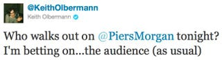Illustration for article titled Keith Olbermann & Piers Morgan Feud On Twitter
