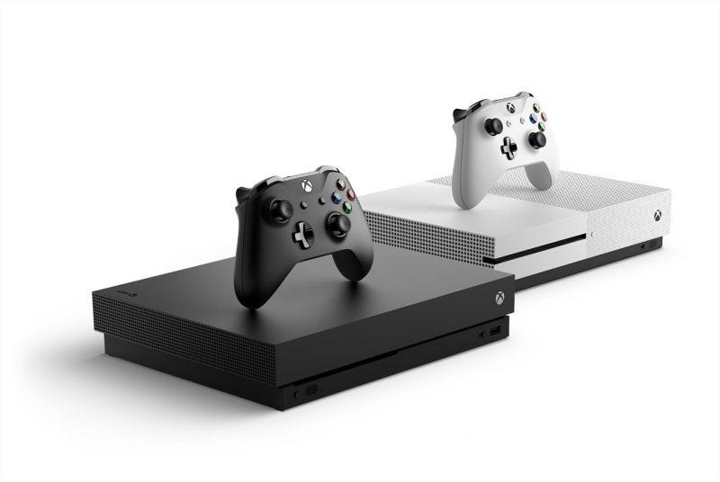 Illustration for article titled The Xbox One X Sure Will Be Hard To Market