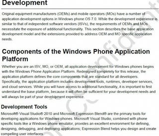 Illustration for article titled Developer Documents Leak Showing Windows Phone 7 Will Use Silverlight and XNA