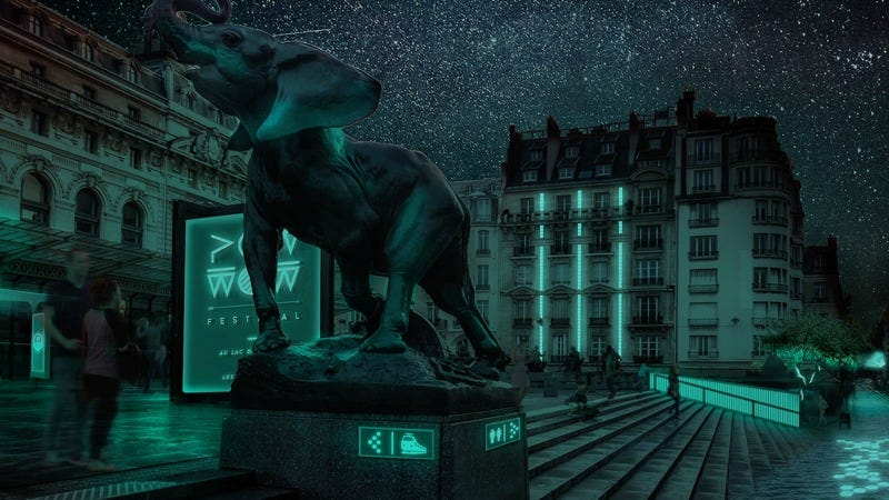 The promise of synthetic biology: Paris-based startup Glowee wants to tweak genes of common bacteria so that they are bioluminescent, thereby creating a potential alternative light source for future cities. (Image: Glowee)
