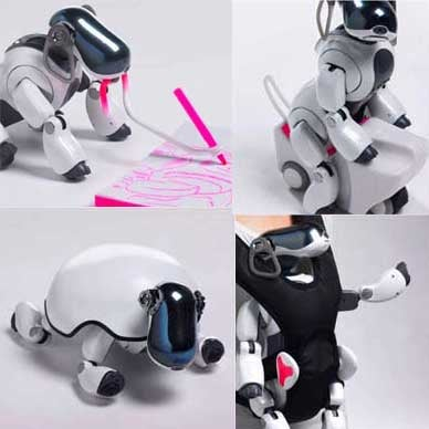 Illustration for article titled Ridiculous Sony AIBO Accessories