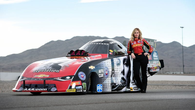 Illustration for article titled The Winningest Woman in NHRA Funny Car Racing Is Stepping Away From Driving