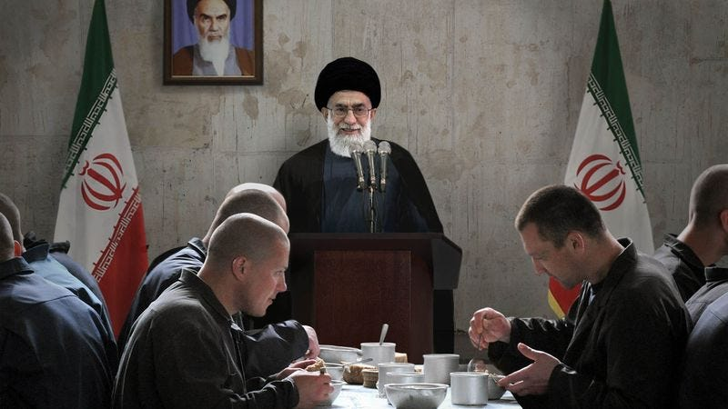 Khamenei tells the gathered reporters that he would love to thank all their sources for everything they contributed, but that, unfortunately, he doesn't speak Hebrew.