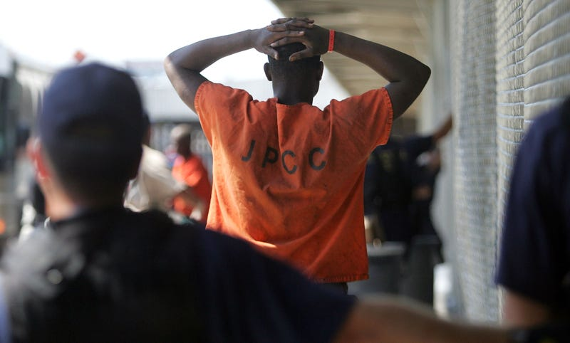 A jailed inmate in New Orleans on Sept. 6, 2005