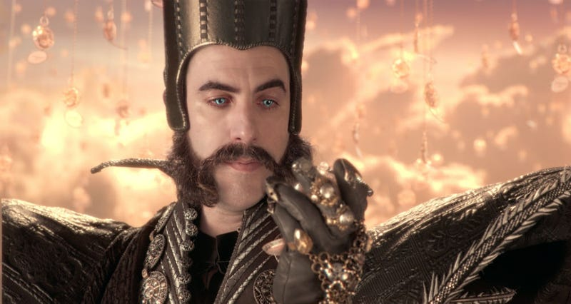 Sacha Baron Cohen as Time in Alice Through the Looking Glass. He's playing another magic character soon. Image: Disney