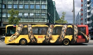 "Illustration for article titled Anaconda Crushing Bus Says ""Visit The Zoo"""