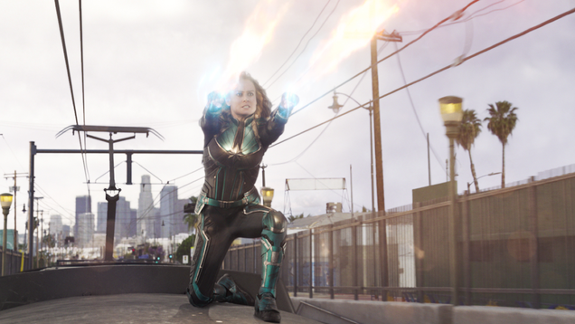 Here s Some Sweet Captain Marvel Action Scene Footage, Courtesy of Brie Larson Herself