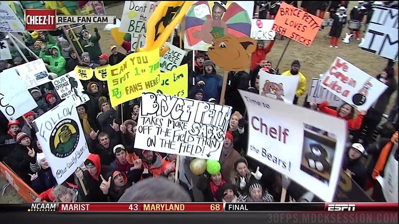 Illustration for article titled Hairy Balloon Balls: Your Baylor-OK. State GameDay Sign Roundup