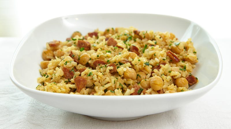 Rice pilaf is not jambalaya, folks.