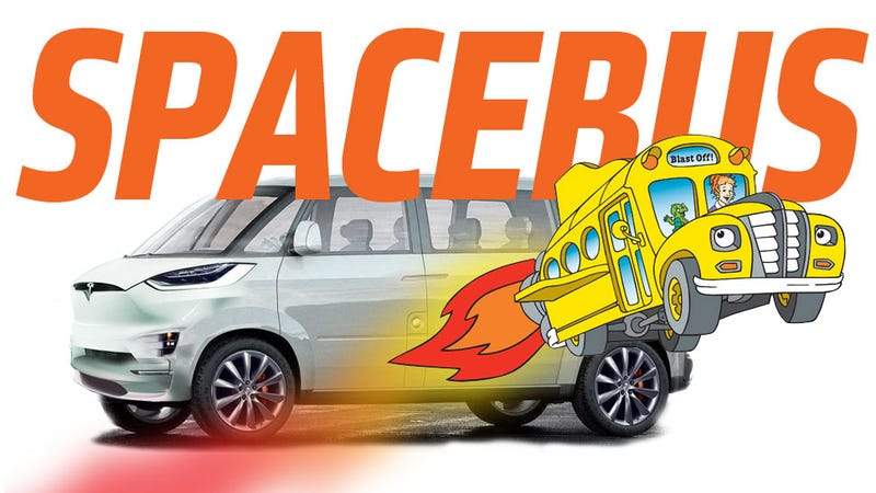 Illustration for article titled Tesla May Call Its New Van A 'Spacebus'
