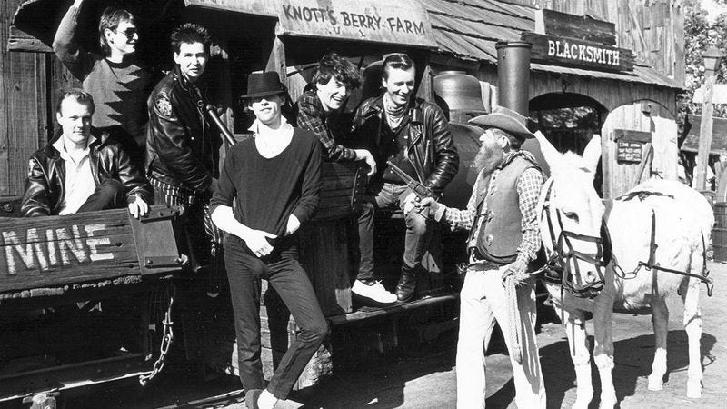 The Boomtown Rats at Knott's Berry Farm in 1981 (via Orange County Archives)