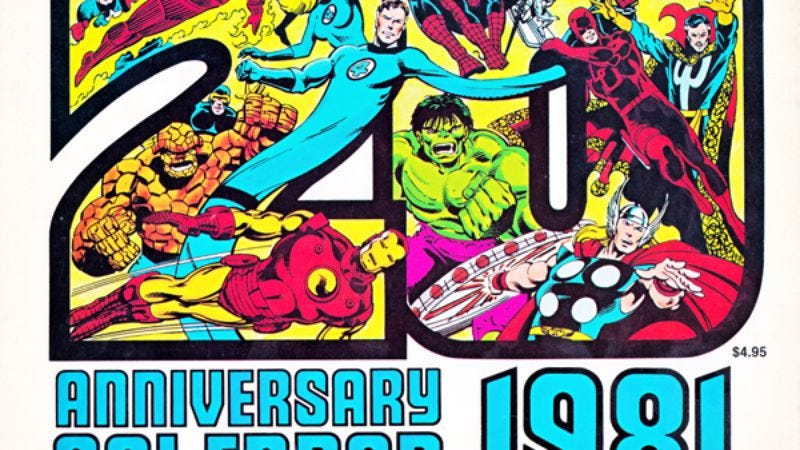Illustration for article titled Ring in 2015 with Marvel's calendar from 1981