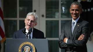 Judge Merrick B. Garland speaks after being nominated to the U.S. Supreme Court as President Barack Obama looks on in the Rose Garden at the White House on March 16, 2016.  Chip Somodevilla/Getty Images