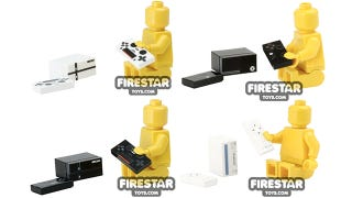 Illustration for article titled Tiny Lego video game consoles to keep your Minifigs entertained