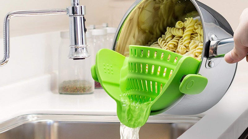 Mac Belk Clip-On Silicone Strainer | $10 | Amazon