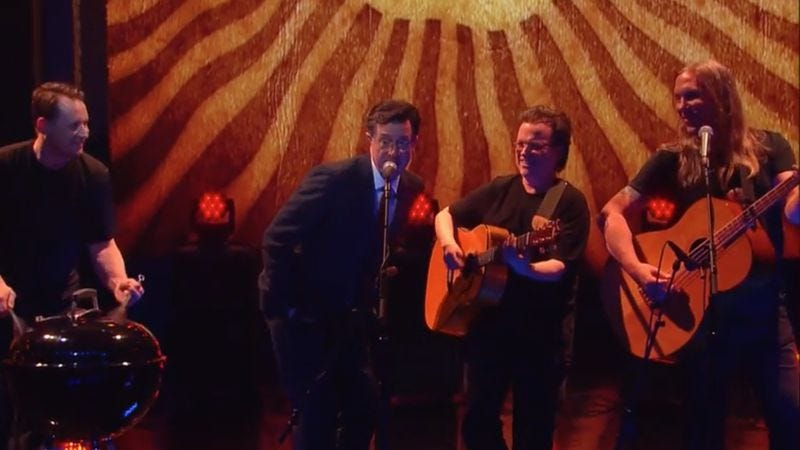 Illustration for article titled For a brief, shining moment, Stephen Colbert was in the Violent Femmes
