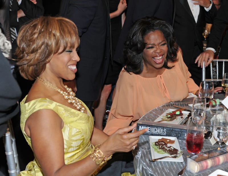 Gayle King and Oprah Winfrey totally not high.