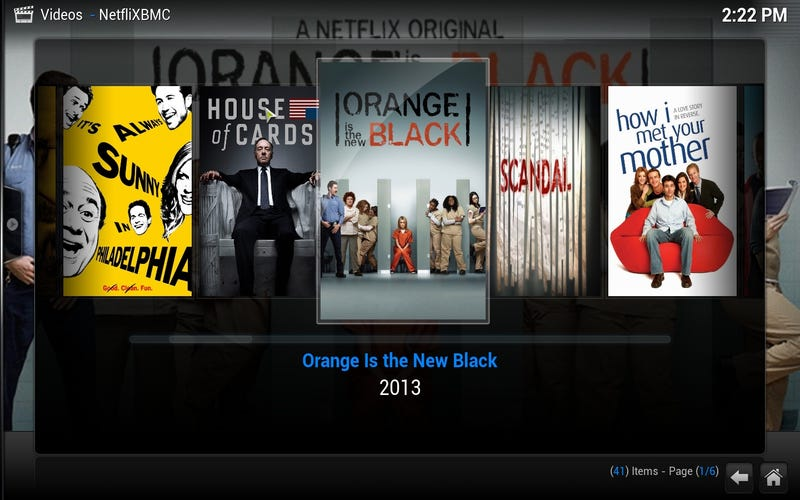 Illustration for article titled NetfliXBMC Brings a Better, Remote-Controlled Netflix to XBMC