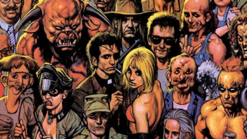 Illustration for article titled Here are the first photos of Cassidy & Arseface on set of AMC's Preacher