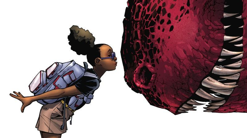 Illustration for article titled Exclusive Marvel preview: The playground gets prehistoric in Moon Girl & Devil Dinosaur