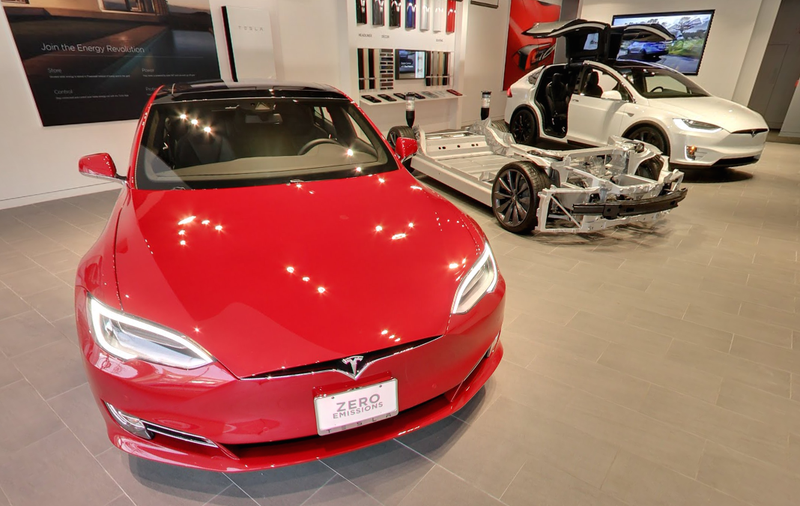 Tesla Greenwich Gallery (Image Credit: Google Street View... yeah, they went inside.)