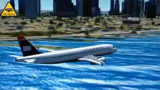 Illustration for article titled US Airways Hudson Crash Recreated In Flight Sim