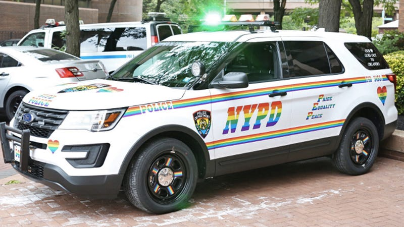 Nypd Patrol Car Dons Rainbow Livery After Orlando For New