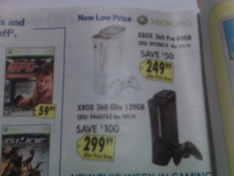 Illustration for article titled Best Buy Ad Also Confirms 360 Price Drops