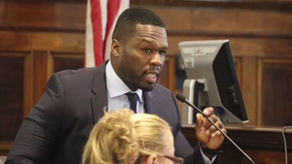 Curtis Jackson, aka 50 Cent, appears in New York Supreme Court in Manhattan July 21, 2015. YouTube Screenshot