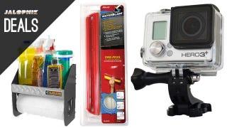 Illustration for article titled Deals: Garage Cleaning Caddy, GoPro Black, Handheld Water Blade