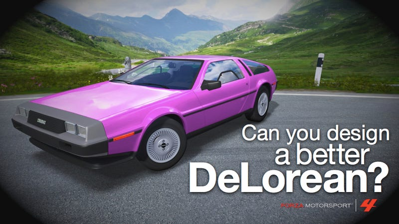 Illustration for article titled Design a DeLorean wrap in Forza 4 and we'll make it real