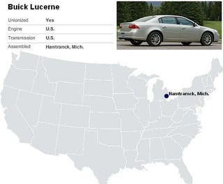 Illustration for article titled Looking For The Union Label On Your American-Built Car?