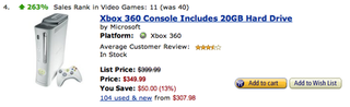 Illustration for article titled Xbox 360 Price Drop Brings Sales Way Up On Amazon