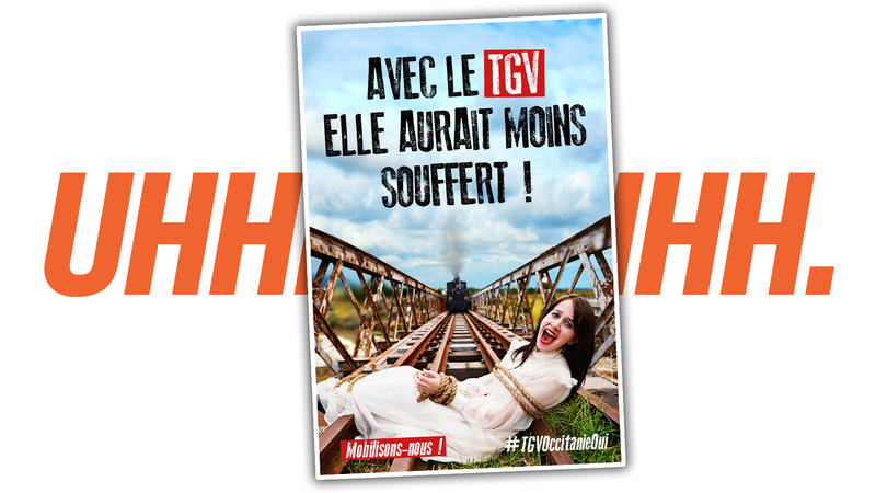 Illustration for article titled Ghoulish French Mayor Makes Posters About A Woman's Murder To Get High-Speed Rail To His City