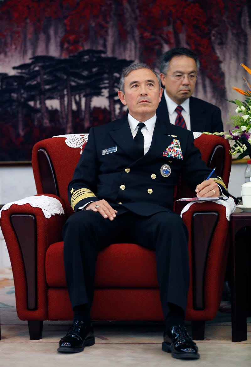 Adm. Harry B. Harris Jr., U.S. Navy Commander, U.S. Pacific Command, during a meeting with Fan Changlong, vice chairman of China's Central Military Commission, at the Bayi Building in Beijing on Nov. 3, 2015Andy Wong-Pool /Getty Images