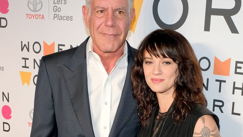 Argento and Bourdain in 2017