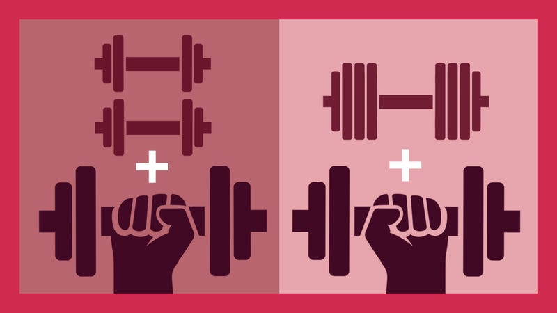 Illustration for article titled More Weight or More Reps: Which Should I Focus On First?