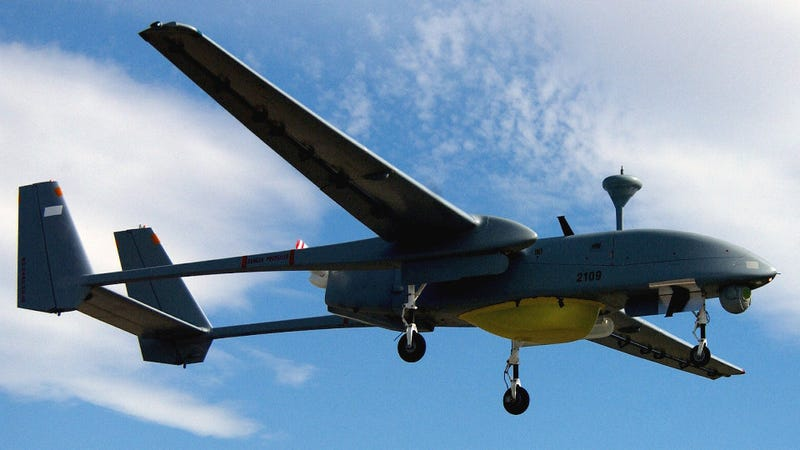 Illustration for article titled This Eagle-Eyed Heron UAV Can See From Tel Aviv to Cyprus