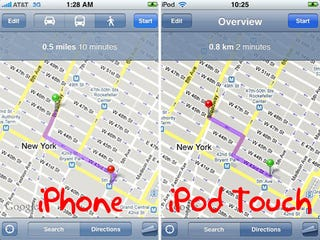 Illustration for article titled iPod Touch Denied Street View, Other Google Maps Upgrades in Firmware 2.2